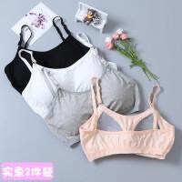 韩版内衣女学生高中少女文胸无钢圈发育期小背心18-19岁裹胸抹胸 均码