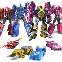 迷你特工队X玩具变形机器人金刚雷弗特露西x塞米的机甲米米特攻队