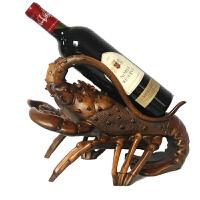饰品电视柜家居客厅博物架摆设 红酒架摆件创意龙虾葡萄酒托酒柜