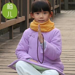 柚儿童装 儿童棉旗袍裙女童棉袄儿童唐装 棉长款棉衣 马褂中式古筝演出服琴服茶服