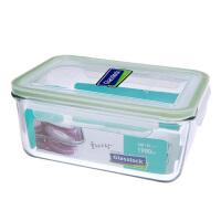 Glasslock 三光云彩韩国进口钢化玻璃饭盒微波炉保鲜盒玻璃便当盒饭菜盒1900ML RP517