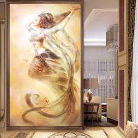 钻画玄关竖版十字绣客厅满钻贴钻敦煌飞天仙女画