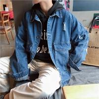 牛仔外套男士春秋韩版2018新款港风上衣服春季休闲百搭潮男装夹克