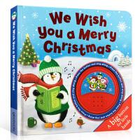 英文原版绘本 We Wish You A Merry Christmas 圣诞节快乐童谣 发声书 节庆绘本 经典儿童歌
