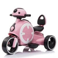 电动三轮车儿童儿童电动摩托车三轮车小孩玩具车宝宝电瓶车充电可坐人1-3岁男孩 【粉色】简约版(有电动 有储物箱 无灯光