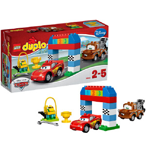 [当当自营]LEGO 乐高 duplo得宝系列 迪斯尼汽车总动员 经典赛车 积木拼插儿童益智玩具 10600