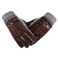 套男士保暖棉手套冬季骑车皮手套骑行摩托车