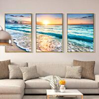 客厅装饰画三联有框画沙发背景墙挂画卧室壁画现代简约北欧式麋鹿 60x80 三拼整套价格