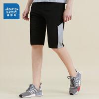 [满减参考价:89.2元,满减最高可减200元,仅限12.4-5]真维斯短裤男2019新款夏季男士针织运动裤休闲直筒五