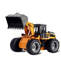 推土车玩具男孩 工程车玩具车遥控铲车装载车 遥控汽车