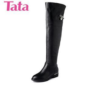 Tata/他她 年专柜同款时尚休闲小牛皮革女靴2YW96DC5