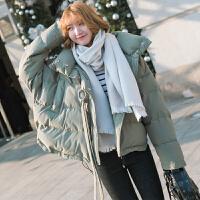 ZAH正品羽绒棉衣外套女士2017面包服女短款冬季韩版学院风宽松蝙蝠袖学生外套