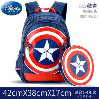 迪士尼美国队长小学生书包男生1-3-5年级6-12周岁背包儿童双肩包