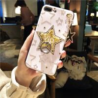 苹果6splus手机壳新款7p指环支架X浮雕iphone7硅胶女款7p潮女款8