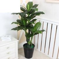 绿植假树发财树仿真植物盆栽大型仿真树客厅落地盆景塑料假花装饰