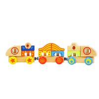 儿童益智木制拆装玩具比好动车组拆装组装拼装玩具
