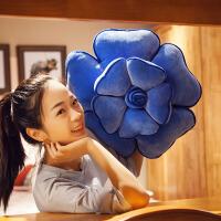 玫瑰花朵抱枕靠枕创意靠垫毛绒花朵可爱床头睡觉用沙发靠汽车腰枕