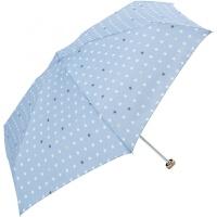 五折太阳伞遮阳雨伞防晒紫外线便携迷你超轻小女 浅蓝色 小星星