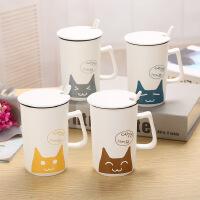 【包邮】创意猫咪杯亚光卡通猫杯子陶瓷杯马克杯