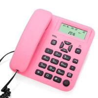 【当当热销】TCL181 电话机座机来电显示免电池免提座式壁挂铃声选择及音量调节闹钟家用办公有绳双接口固定电话