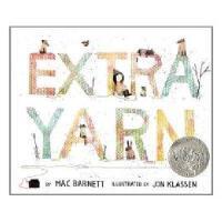 Extra Yarn 2013 英文原版 凯迪克银奖绘本:穿毛衣的小镇 精装