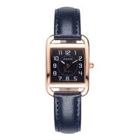 聚利时(Julius)新款皮带手表数字刻度夜光指针弧形镜面方形小表盘石英女表JA-954