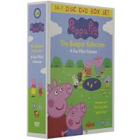 包邮 Peppa Pig DVD 纯英文发音带英文字幕 高清粉红猪小妹英文原声字幕 PeppaPig 全套全4季15碟
