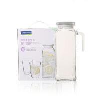Glasslock 玻璃冷水壶水杯套装茶杯水壶IG707水杯茶具冷水壶凉开水扎壶3件套