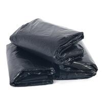 大垃圾袋批发 黑色平口大码垃圾袋 物业加厚超大号垃圾袋120x140 130X140特厚款 50个 黑 加厚