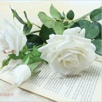 仿真玫瑰花 绢花假花荔枝玫瑰花瓶插花装饰