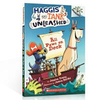 英文原版 All Paws on Deck 甲板上所有的爪子 5 - 7 岁儿童启蒙绘本