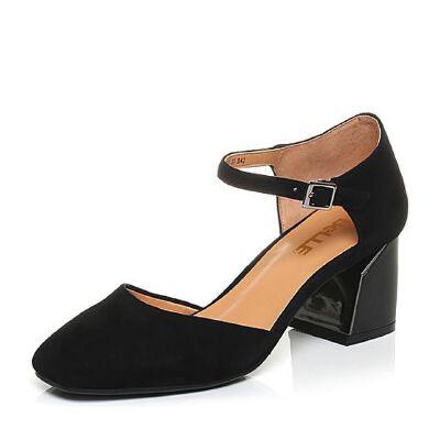 Belle/百丽2017春季专柜同款羊绒皮玛丽珍女凉鞋BOM32AK7
