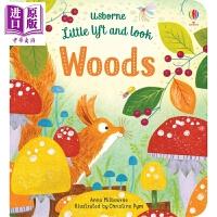 【中商原版】丛林小小书 Little Lift and Look Woods Usborne 亲子绘本 纸板书 0~3