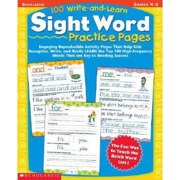 【预订】100 Write-And-Learn Sight Word Practice Pages: Engaging Reproducible Activity Pages That Help Kids Recognize, Write, and Really Learn the Top 100 High 预订商品,需要1-3个月发货,非质量问题不接受退换货。
