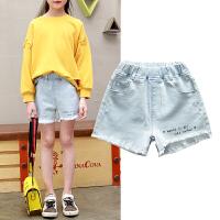 女童短裤夏季新款小女孩磨毛牛仔短裤中大童短裤
