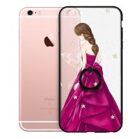 苹果6手机壳iPhone6plus套女款6sPlus全包6s挂绳硅胶