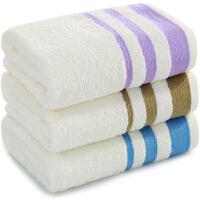 三利 毛巾家纺 初色素缎纯棉毛巾 32x70cm 洗脸面巾单条装