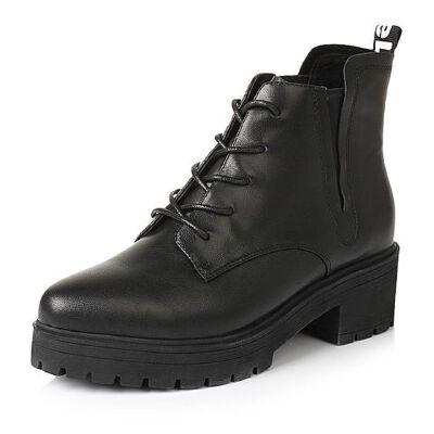 Belle/百丽冬专柜同款牛皮革女短靴Q5W1DDD6