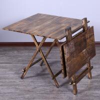 门扉 餐桌 现代简约咖啡厅主题复古折叠餐桌椅组合洽谈方桌家用可折叠餐桌椅