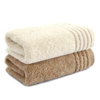 三利 有机棉方巾2条装 34×34cm 纯棉柔软吸水洗脸巾 50g/条 优选长绒棉口水巾