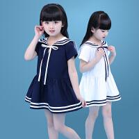 女童裙子夏季新款海军连衣裙学院风裙子中大儿童水手裙子