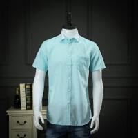 柜子剪标出品免烫衬衫男短袖格子抗皱衬衣半袖商务休闲寸衫上衣