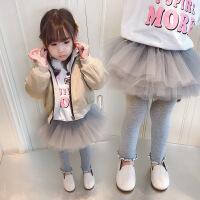 女童假两件裤裙儿童打底裤加绒加厚1-3岁女宝宝裙裤 蓬蓬裙 裙子