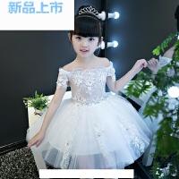 礼服公主裙女童蓬蓬裙婚纱裙小主持人钢琴演出服模特走秀花童