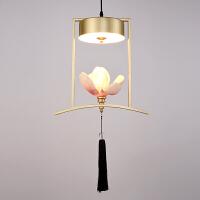 中式铁艺小吊灯创意餐厅咖啡厅吧台单头吊灯