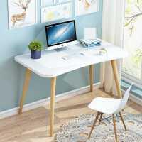 书桌简约家用学生简约现代卧室桌子经济型实木腿北欧电脑桌台式桌
