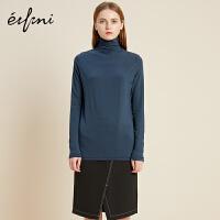 伊芙丽冬装新款韩版时尚女装毛针织衫女高领套头修身打底衫女