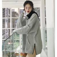 社会女卫衣韩版帅气bf个性开叉酷酷流行衣服潮 ins超火的上衣