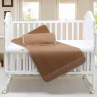儿童凉席婴儿宝宝凉席幼儿园夏季透气午睡藤席婴儿床童席