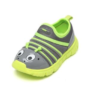 毛毛虫男童鞋春夏季儿童一脚蹬网面防滑运动鞋